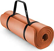 TRESKO® Tappetino per Yoga 185 x 60 cm e 190 x 100 cm Pilates Tappeto Ginnastica Fitness Aerobica NBR