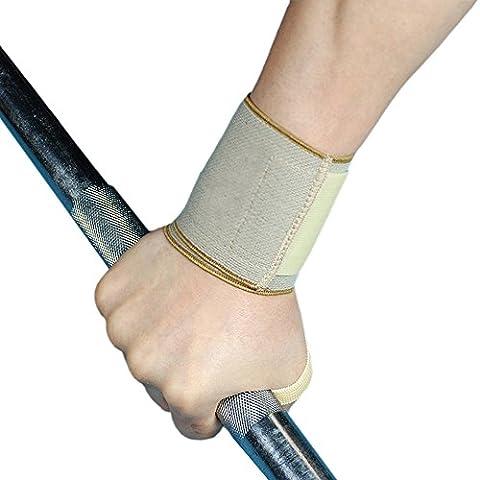 Wrist Compression Wrap Support Bandage Brace Gym Weight Lifting Strap Bar