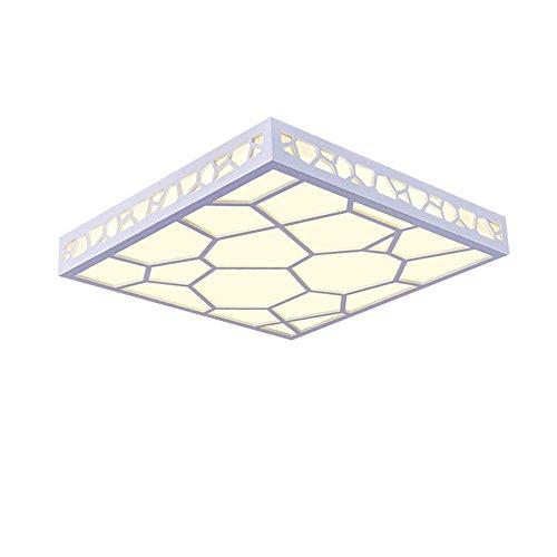 Lonfenner Semplice LED soffitto lampada living room luce luci lampada camera da letto moderno e accogliente ristorante, Piazza acqua cubo lampade Alec studiare lampada da soffitto (45cm 10cm) , Warm Yellow Light