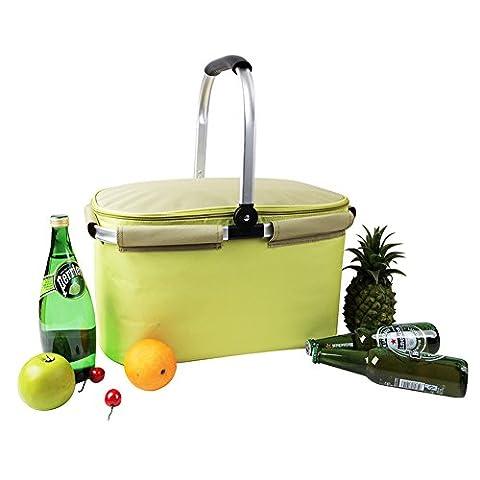 YONOVO Picknickkorb Kühltasche 22L Isolierte faltbare für Picknick, Camping, Grill,