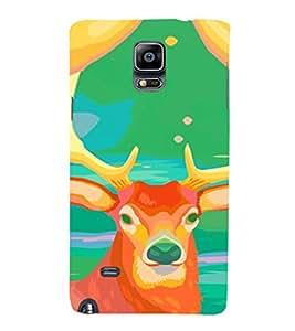 EPICCASE Colorful deer Mobile Back Case Cover For Samsung Galaxy Note 4 (Designer Case)