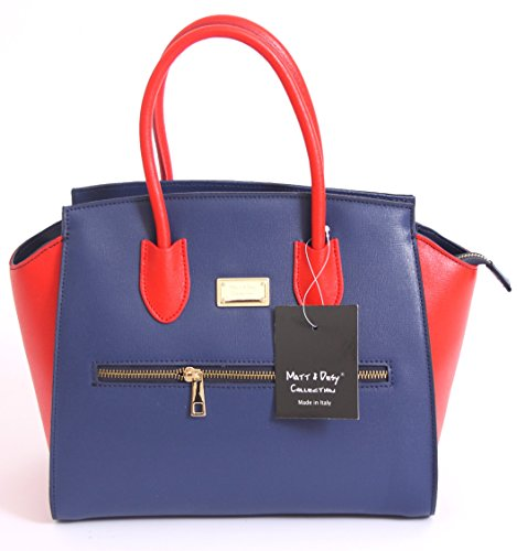 Matt e Desy collection , Sac à main pour femme blu rosso