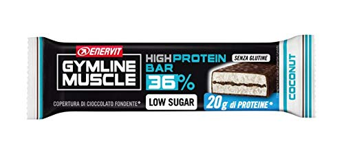 GYMLINE MUSCLE 25 BARRETTE 60g COCONUT HIGH PROTEIN BAR COCCO