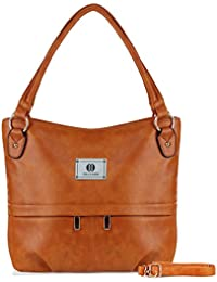 Yolando Womens Vintage Style Faux Leather Hobo Tote Buckets Bag Shoulder Handbag With Zippered Pockets, Large...