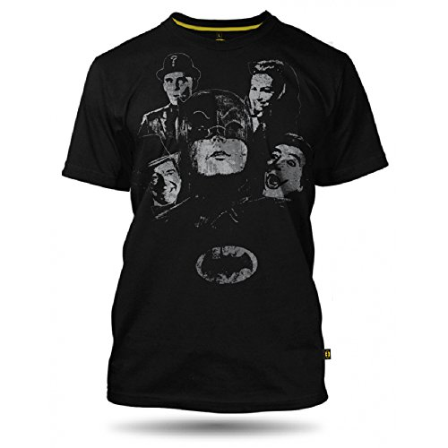 DC Comics Batman Collage Herren T-shirt, 100% Baumwolle Schwarz