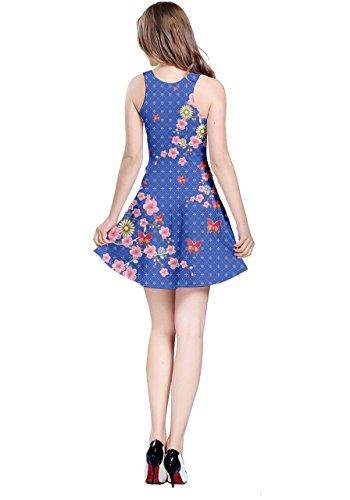 CowCow Damen Kleid Blau Blau Schweinchenrosa