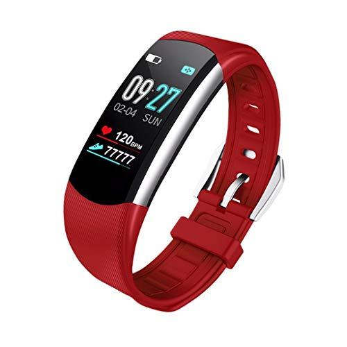 LRWEY Fitness Smart Watch, Fitness Aktivität Herzfrequenz Tracker Blutdruck Kalorien Schrittzähler Sport Smart Watch, für iOS Android