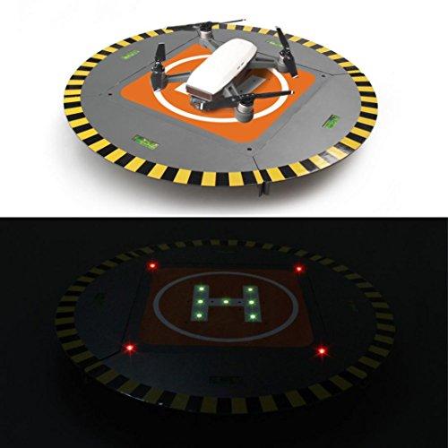 RC Hubschrauber Landeplatz, yoyoug rcgeek LED Leuchten in H Array Landing Pad erweiterbar Launch Pad für DJI Mavic Pro