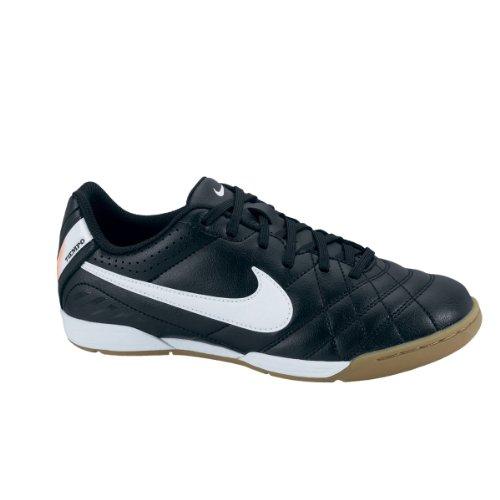 Nike Junior Tiempo Natural IV Innen Fußballtrainer schwarz - weiß