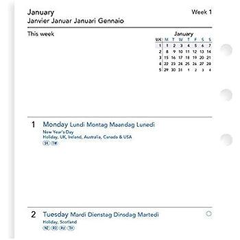 Agenda settimanale con note in 5 lingue Filofax 20-68409