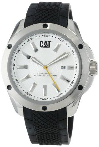 Caterpillar YQ14121222 - Reloj para hombres, correa de goma color negro