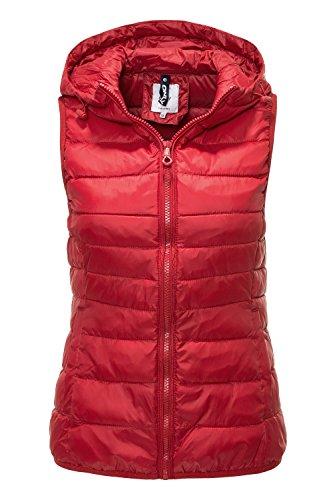 Only Damen Steppweste Leichte Weste Übergangsjacke (XL, Jester Red)