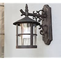 HAGDS Nueva Lámpara de Pared Retro Europea Lámpara de Pared al Aire Libre del Jardín Protector Solar a Prueba de Agua Redondo luz de la Pared Decorativa al ...