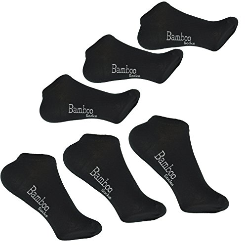 SanaSocks Bambus Sneaker Socken Sneakersocken Bambussneaker Damen & Herren schwarz Sneaker Socken aus Bambusviskose (43/46, Schwarz)