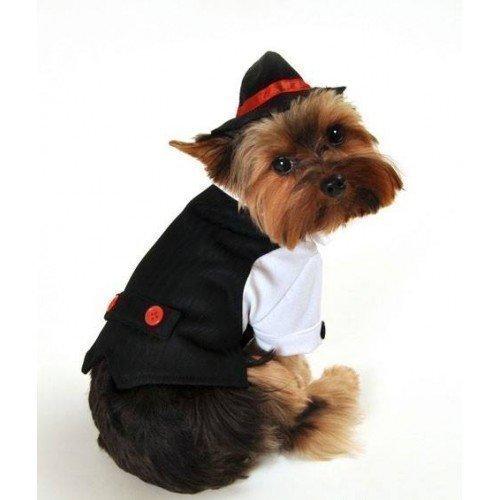 Katze Gangster Bugsy Malone Anzug 1920s Jahre Gatsby Halloween Kostüm Kleid Outfit XS-XL - Schwarz, Schwarz, Large (Katze Halloween Kostüme Für Kinder)