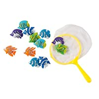 Blue Panda Pool Diving Toys (13-Pieces) - Underwater Toys for Kids, Diving, Catching Games - Includes 12 Fish and 1 Catching Net