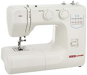 USHA Janome Allure Automatic Zig-Zag Electric Sewing Machine (White)