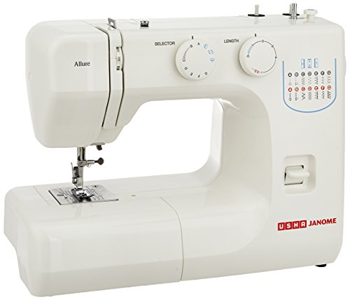 Usha Janome Allure Automatic Zig-Zag Electric Sewing Machine (White)