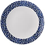Francés azul marino y blanco diseño de Dash–Plato para guarnición–Mix & match gama–Atractivo, ligero pero resistente de melamina Picnic/barbacoa/buffet plato de al aire libre–23cm