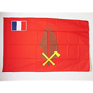 AZ FLAG Chiefdom of Alo Flag 3' x 5' for a pole - Kingdom of Futuna flags 90 x 150 cm - Banner 3x5 ft with hole