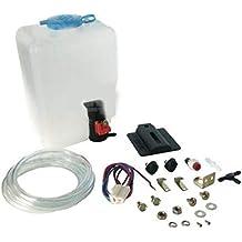 Funnyrunstore 12V 110943769329 Kit de bolsa de botella de lavaparabrisas universal (negro)