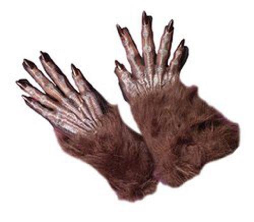 Braune Werwolf Handschuhe (Handschuhe Braune)