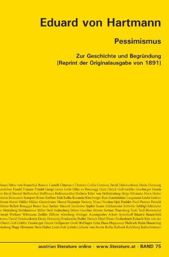 Pessimismus: Zur Geschichte und Begründung [Reprint der Originalausgabe von 1891]