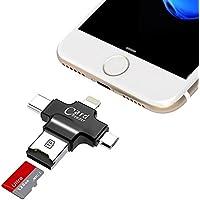 GEZICHTA USB Card Reader, 4in 1Micro-SD-Kartenleser mit Typ C USB Stecker OTG Hub Adapter, TF Flash-Speicherkarte... preisvergleich bei billige-tabletten.eu