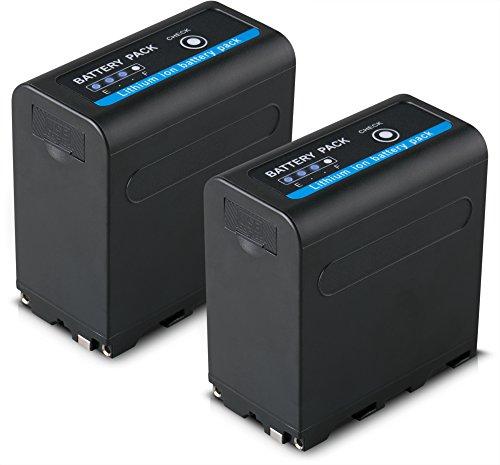 Blumax 2X Akku für Sony NP-F980 / F970 / F750 / F550 / F960 - LG Zellen - 7850mAh mit 5V USB Ausgang (Powerbankfunktion) und DC Strom-Eingang