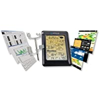 Weather Station Wireless WS1093 with Touch Screen & Internet Upload + Free Beginner