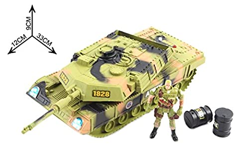 Army Tank Patrol Squad Action Figure Soldier Set Military Vehicle Power