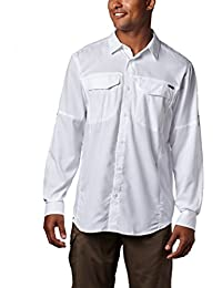 Columbia Men's Plain Regular Fit Synthetic Casual Shirt