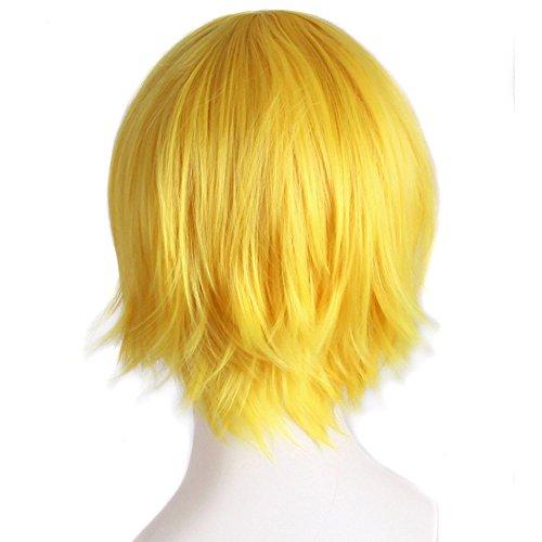 Luckhome Perücke Kurz Gerade Bob Synthetik Perücken Abgestufte Farbe Cosplay Beginnen Sie Das Leben In Einer Anderen Welt Kostüm Spielen Halloween Perrücke Wig Haare Wigs(I)
