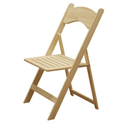 Cxjff Moderne Esszimmerstühle - Massivholz Klappstuhl, verdickter Massivholzhocker for Zuhause/Restaurant/Arbeitszimmer/Schlafsaal/Arbeitszimmer Lackfarbe 45x43x78CM Geeignet for Wohnzimmer, Schlafz