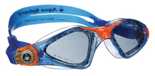 4-punkt-kopfband (Aqua Sphere Kayenne Junior Goggles, Blue/Orange, Smoke)