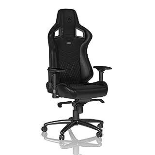 noblechairs EPIC Gamingstuhl - Bürostuhl - Schreibtischstuhl - Echtleder - Schwarz