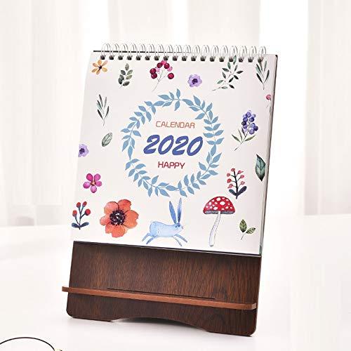 2020 Tischkalender, Holz Tischkalender Kalender Business Kalender Druck Kreative Tischkalender, 170 * 237mm 170*237mm Blumenkaninchen