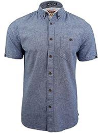 Chemise en lin à manches courtes 'Morales' par Tokyo Laundry pour homme