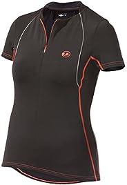 Ultrasport T-Shirt de Marche avec Option séchage Rapide pour Femme Noir Black
