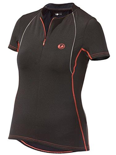 Ultrasport Damen Laufshirt kurze Ärmel, black dubarry, M, 10178