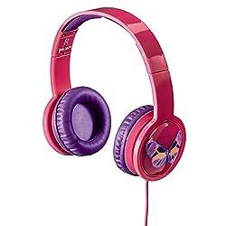 Hama Kinderkopfhörer Over-Ear Blink'n Kids (Lautstärkebegrenzung 85dB, Kopfhörer für Kinder, faltbar, verstellbar, Blinkeffekt mit LED-Licht, 1,2 m Kabel Leicht-Kopfhörer für Mädchen ab 4 Jahre) pink