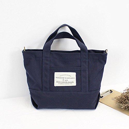 anvas Tasche Kunst und Handwerk Schultertasche Handtasche koreanische Frauen Tasche Shopping Bag 30 cm * 12 cm * 26 cm, blau (Canvas-handwerk)