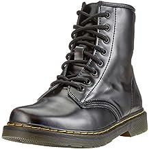 Botas de Mujer Cuero Impermeables Botines Hombre Invierno Zapatos Nieve Piel Forradas Calientes Planas Combate Militares