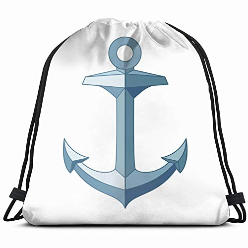 flat outline sea icon vintage objects anchor signs symbols Drawstring Backpack Gym Sack Lightweight Bag Water Resistant Gym Backpack for Women&Men for Sports,Travelling,Hiking,Camping,Shopping Yoga (Ipad Flat Iron)