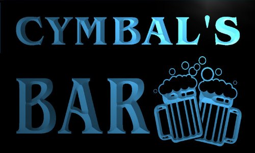 w128950-b-cymbal-name-home-bar-pub-beer-mugs-cheers-neon-light-sign