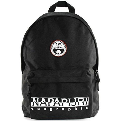 Napapijri Happy Day Pack - Borse a tracolla Unisex Adulto, Schwarz (Black), 11x41x30 cm (B x H T)