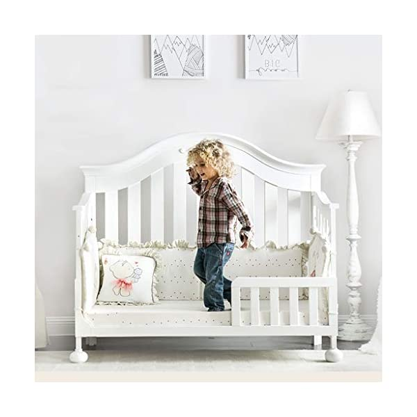 DUWEN-Cot bed Solid Wood Multifunctional Baby Cot European Toddler Bed Game Bed Sofa Bed Children's Bed (color : White) DUWEN-Cot bed 1. Multi-functional crib is the best gift for your baby. It not only can make your baby have a better sleep experience, but also cultivate your baby's independent consciousness and exercise your baby's hand and foot coordination ability. It is your best choice. 2. The multi-functional crib is made of environmentally friendly pine wood, which is tough and durable, not easy to crack and deform, and has a bearing capacity of over 120KG. 3. The crib is safe and environmentally friendly, non-irritating, harmless to the baby, mother can buy with confidence 6