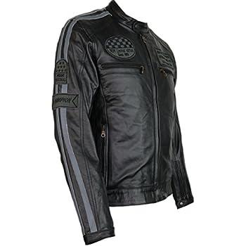 Lederjacke mit Protektoren - Leder Jacke für Biker Chopper