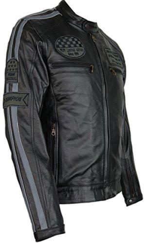 Herren Motorrad Lederjacke (3XL)