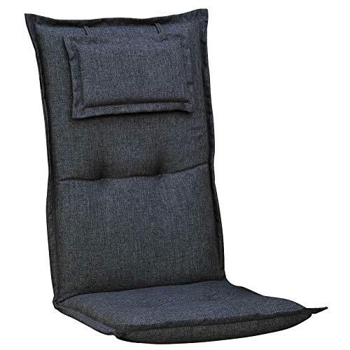 Auflagen mit Kopfpolster für Liegen in grau Liegenauflagen Liegenauflage Kissen